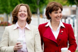Premiers Christy Clark and Alison Redford