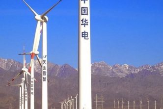 David Shukman watches one of China's giant wind farms take shape