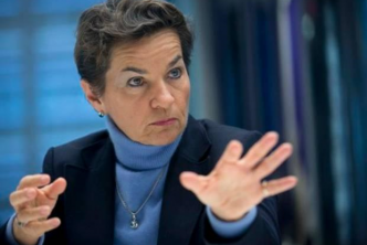 Christiana Figueres, executive secretary of the UN Framework Convention on Climate Change, speaks during an interview in New York, U.S., on 13 January, 2014. Photograph: Scott Eells/Getty Images