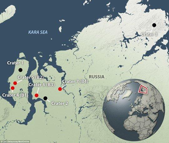 siberian-crater-locations