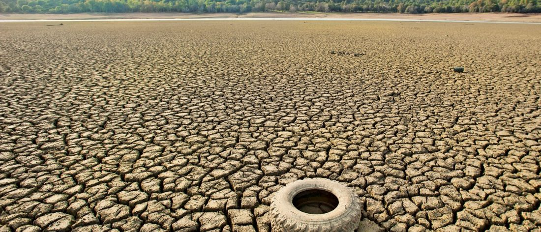 Drought with tire
