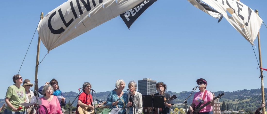 Occupella performing at April 29, 2017 Climate Mobilization in Oakland