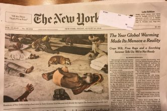 The New York Times Front Page - Summer of Fire