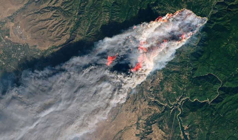 The wildfire that wiped out Paradise, California.