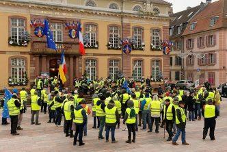 Yellow Vest demonstration in Belfort, France
