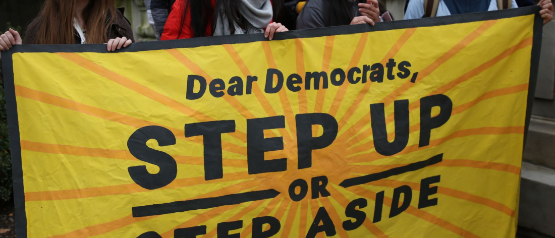 """Sunrise Movement """"Dear Democrats - Step Up or Step Aside"""""""