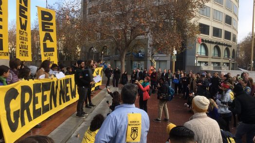 Sunrise Movement demonstration in San Francisco