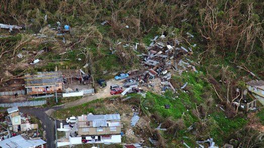 Hurricane Maria wreckage in Puerto Rcio