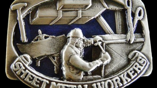 Sheet Metal Workers Belt Buckle | credit: coolbuckles.com