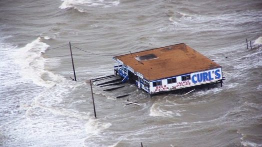 Curl's Bait Shop rides in the storm