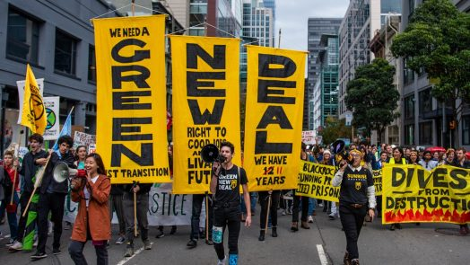 Green New Deal protest march - Sunrise Movement