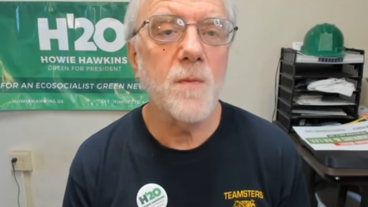 Green Party presidential candidate Howie Hawkins