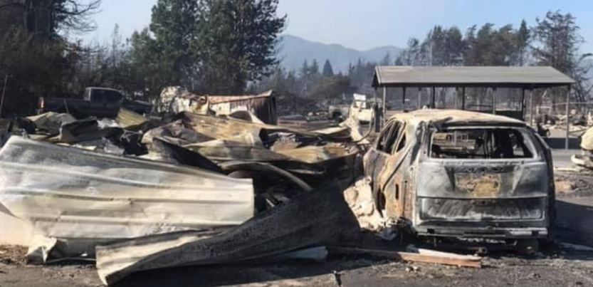 Rogue Action Center burned to the ground by wildfire