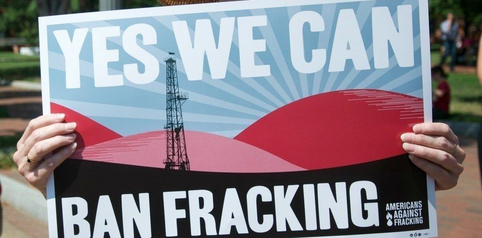 Yes We Can Ban Fracking poster
