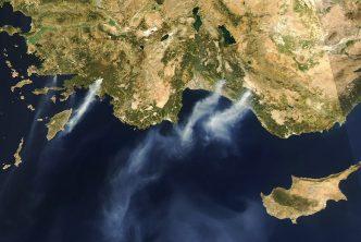 Fires in Turkey from satellite