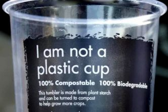 So-called compostable cup