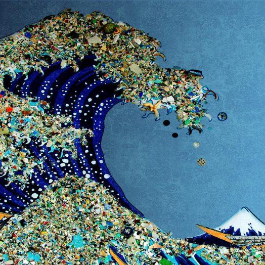 Ocean Wave of Plastic